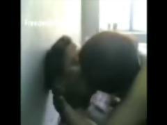 indian gal gives blowjob, rides man, smooches