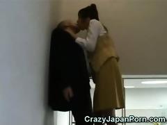 crazy cook jerking in tokyo office!