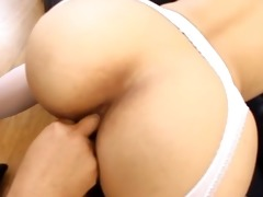 oriental whore with huge toys in her anal