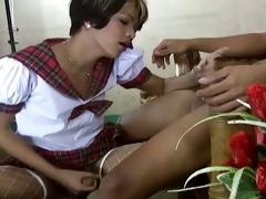 legal age teenager oriental ladyman gets hard