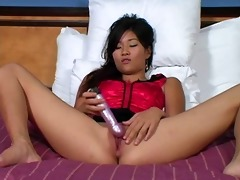 hawt oriental with a toy. joi