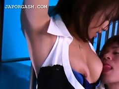 asian caged sex bomb receives her cunt and
