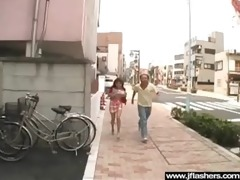 floozy japanese disrobe in public and receive