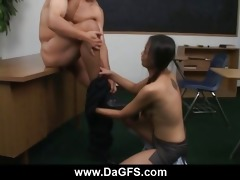 oriental schoolgirl copulates her pervert teacher