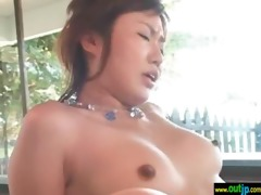 outdoor in wild place hawt oriental receive