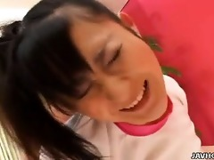 sexually excited miasaki fucked in crotchless
