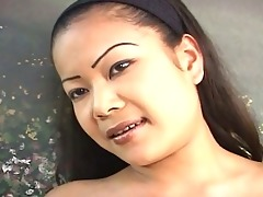 oriental bitch has very hungry face hole