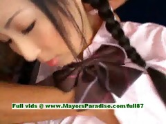 breathtaking japanese model gets nipps licked and