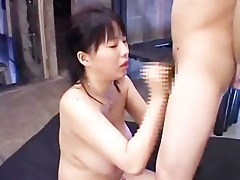 breasty japanese rin aoki acquires spunk on her