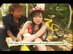 yua aida oriental legal age teenager does blow