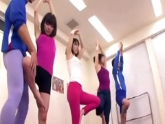 japanese tutor receives erection at the gym