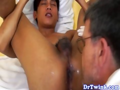 asian twink acquires a milk enema