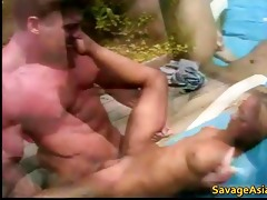 concupiscent oriental whore receives drilled by