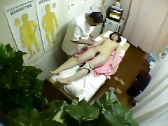 brunette hair asian acquires massaged and screwed