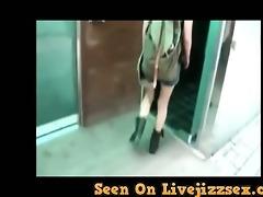 hot korean pair copulates in public bathroom -