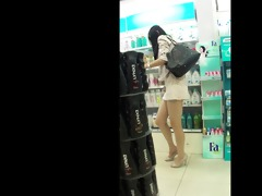gorgeous chinese beauty in public