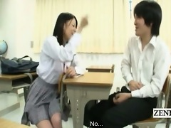 subtitled cfnm japanese schoolgirl class show and