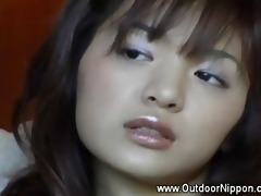 slutty oriental acquires fingered outside