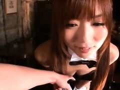 hot japanese playboy bunny showing her part6