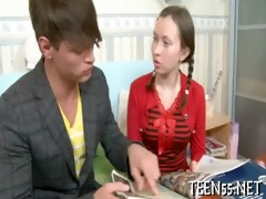 timid asian legal age teenager receives drilled