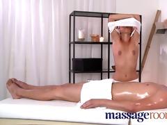 massage rooms sexy masseuse takes large ramrod