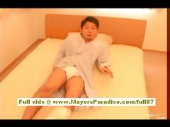 rio hamasaki oriental nurse in uniform gets fur
