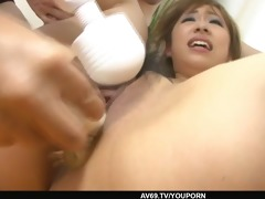 oriental babe yurina in trio wicked group sex