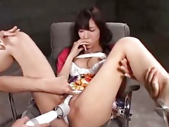 oriental gal next door is masturbation and