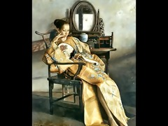 chinese chicks and the mirror - paintings of lu