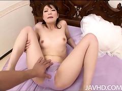 japanese model tomoka sakurai filled with rod
