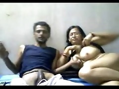indian older pair mr and mrs gupta in cam