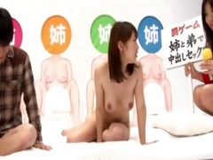 sexy oriental hottie fucks in weird game show
