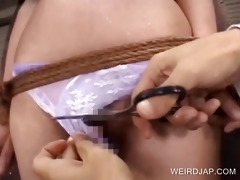 tits and snatch vibration with oriental serf