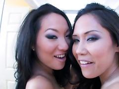 breathtaking oriental pornstars sharing a rod